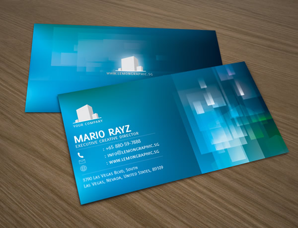 Aqua Water Corporate Business Card