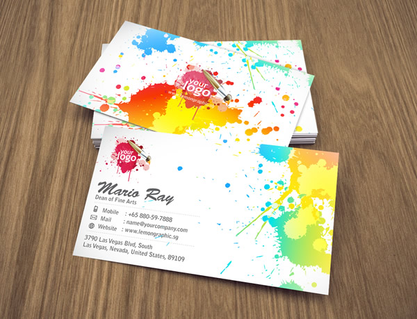 Art Attack Corporate Business Card Lemon Graphic Singapore