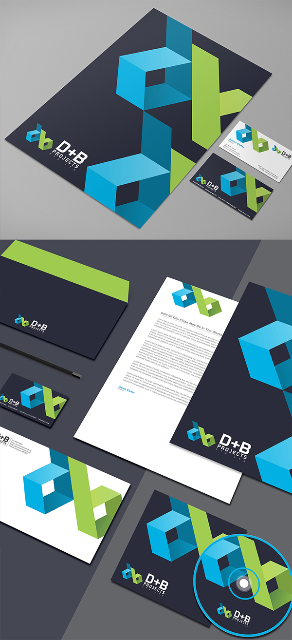 B+D Projects branding design