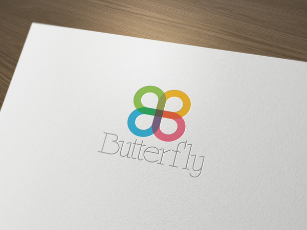 Butterfly logo LO11OG // Logos collection