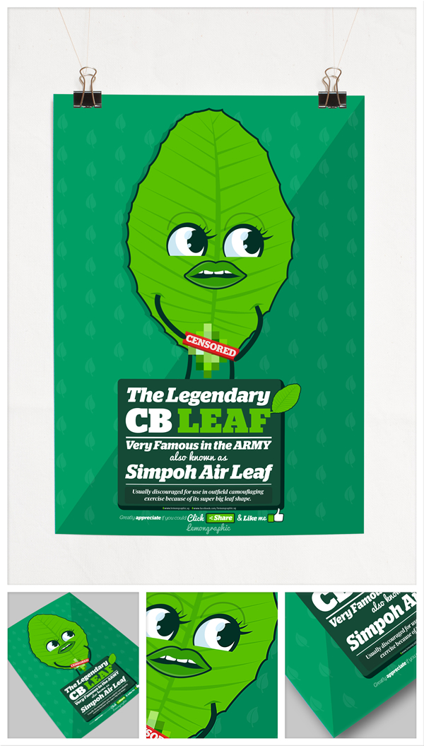 CB leaf aka Simpoh air leaf character design