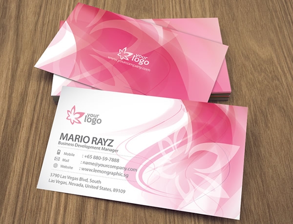 Cherry Blossom Corporate Business Card