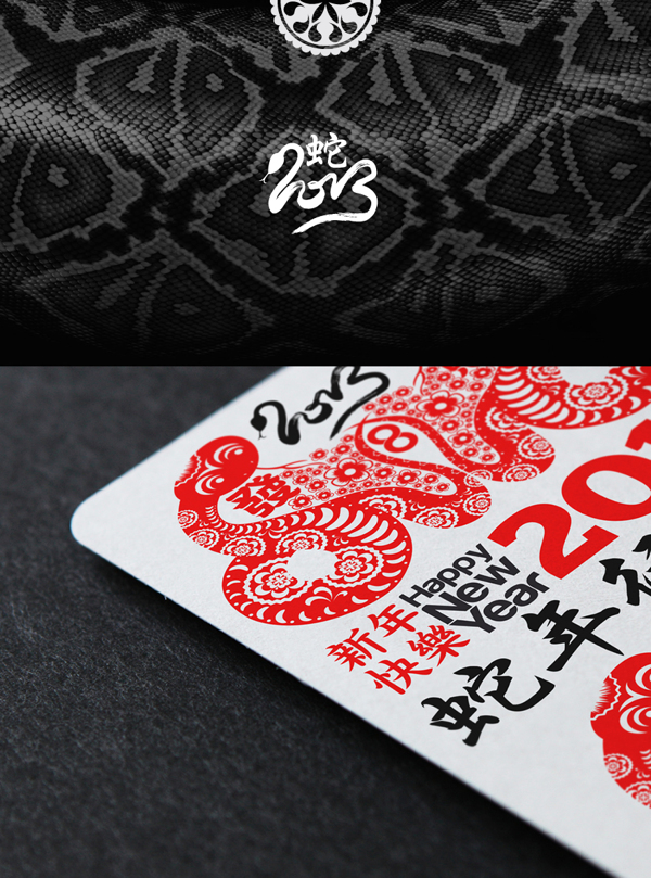 Chinese new year 2013 year of the snake vector arts