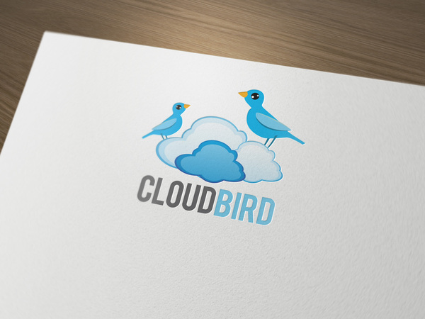Cloud bird logo LO11OG // Logos collection