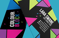 Colour block business card design - Thumbnails