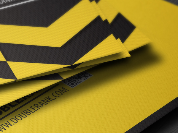 DoubleRank quick response business card