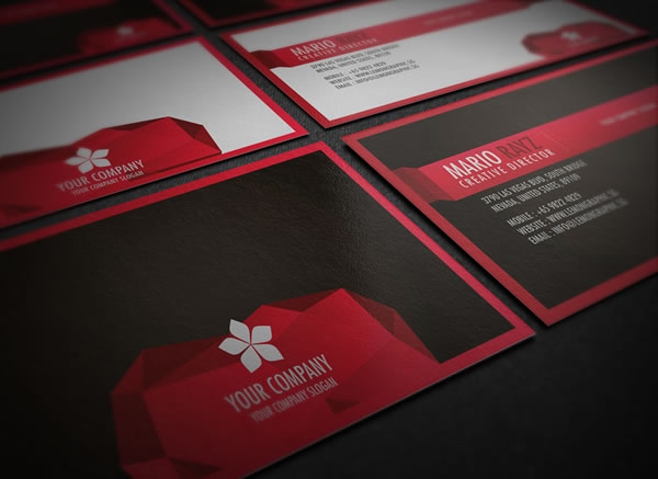 The edge corporate business card