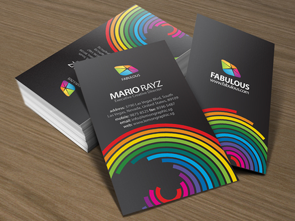 Fabulous corporate business card