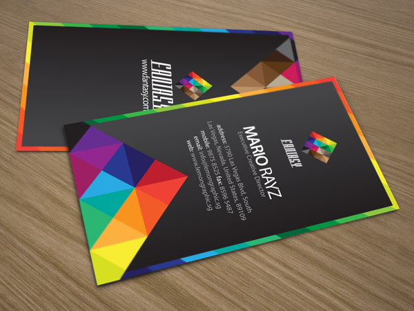 Fantasy colors corporate business card lemon graphic singapore fantasy colors corporate business card reheart