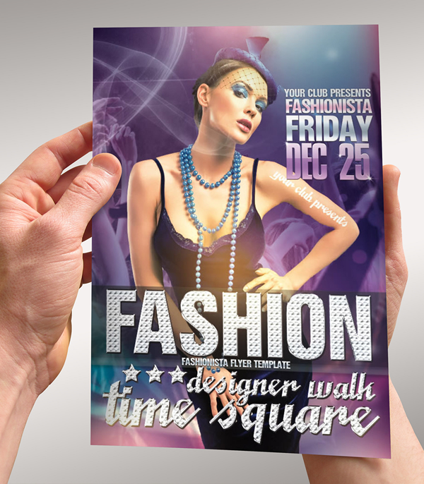 Fashionista Fashion week Event Flyer