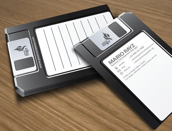 Floppy disk creative business card