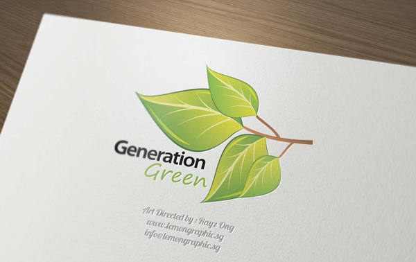 Generation green business card design
