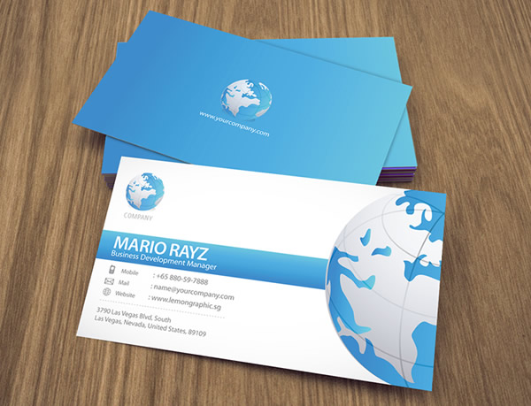 Globalization Corporate Business Card