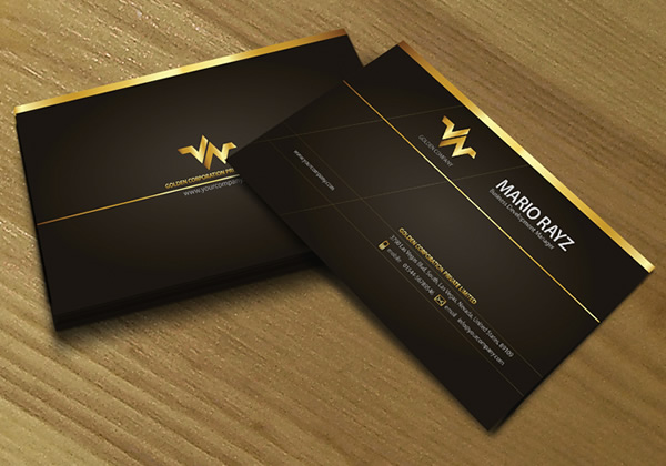 Golden Hot-Stamped Business Card