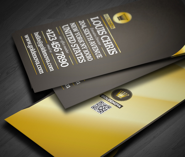 Golden Nova Foil Stamping business card