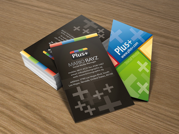 Google social media Business Card
