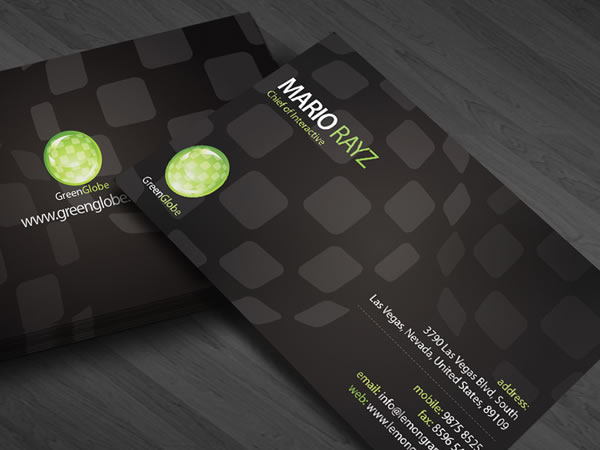 Green Globe Corporate Business Card
