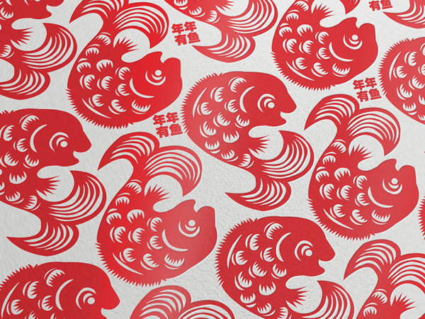 Happy Chinese New Year Fish 2012 年年有鱼 Vector