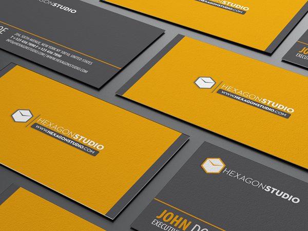 Hexagon Studio quick response business card