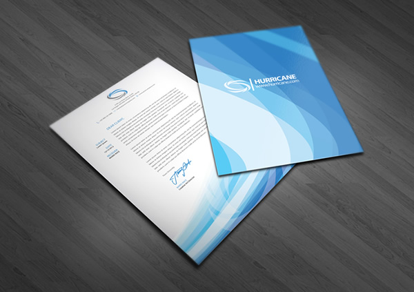 Hurricane corporate identity branding