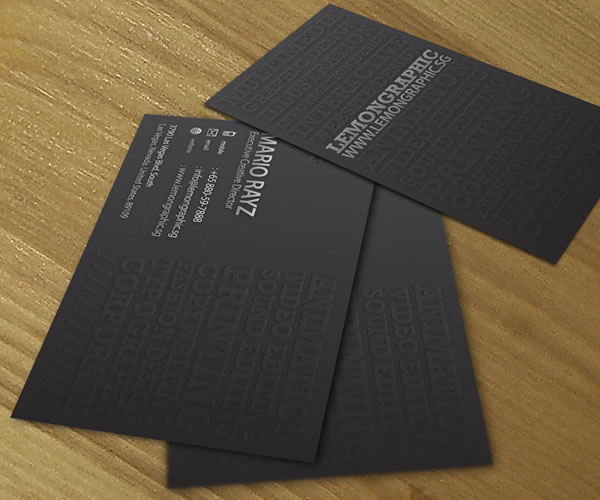 Minimalist emboss Corporate Business Card
