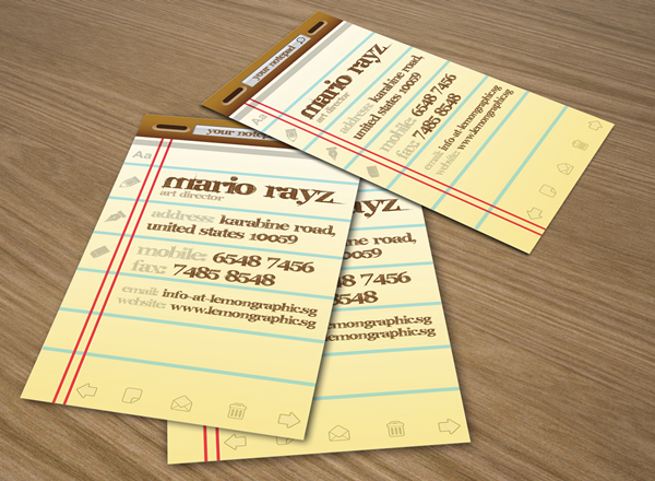 Notepad Corporate Business Card