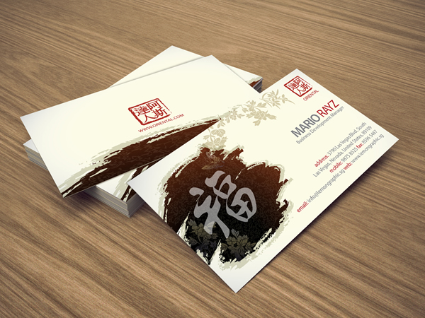 Oriental china business card lemon graphic singapore business oriental china business card colourmoves
