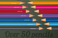 Art club colored pencils vector pack (1)