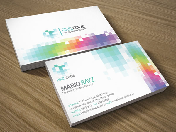 Pixel code Corporate Business Card