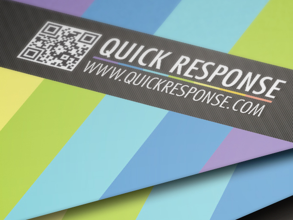 QR Quick Response business card design version 02