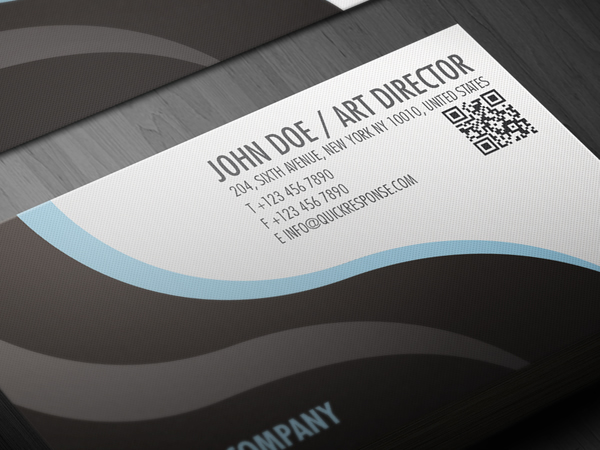 QR Quick Response Business Card Design Version 03