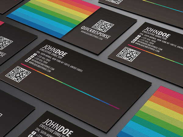 Quick response business card design ver 04