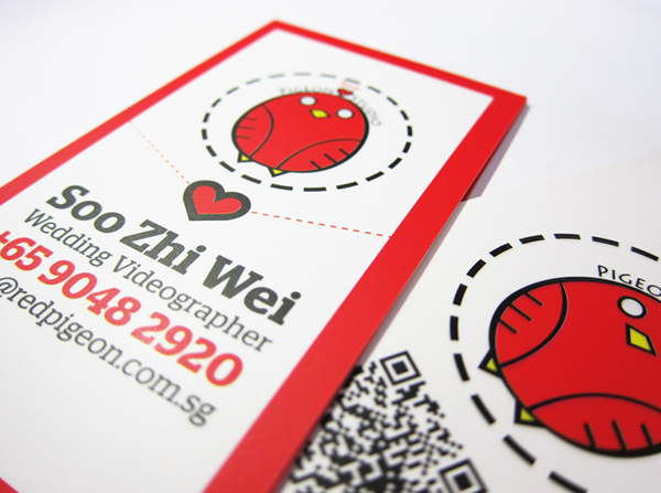 Red pigeon studio business card design