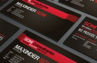 Soni consultants business card design 02