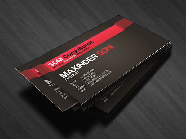 Soni consultants business card design