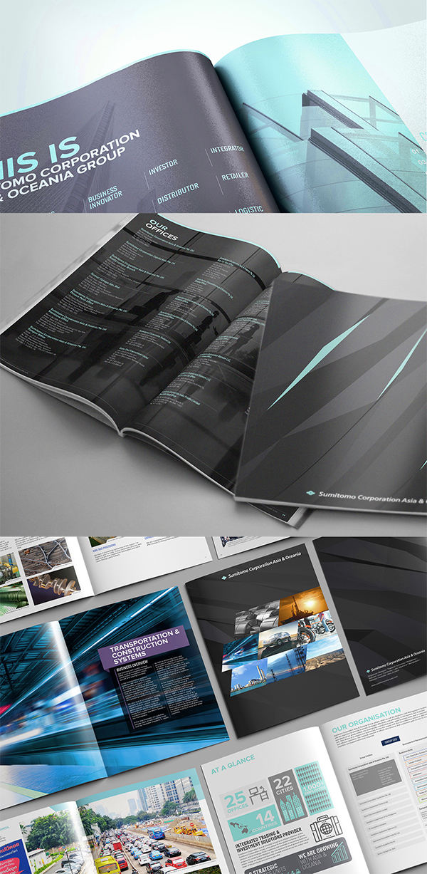 Sumitomo Corporation Corporate Brochure Design
