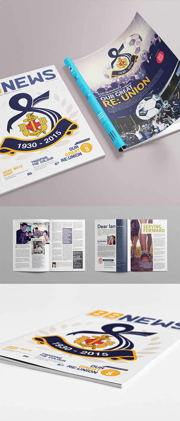 The Boys Brigade Singapore Newsletter design