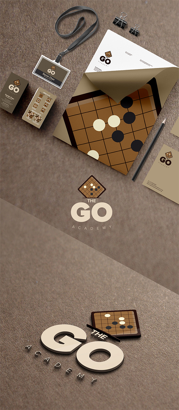 The go academy branding design