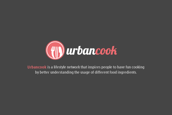 Urbancook branding website mobile app