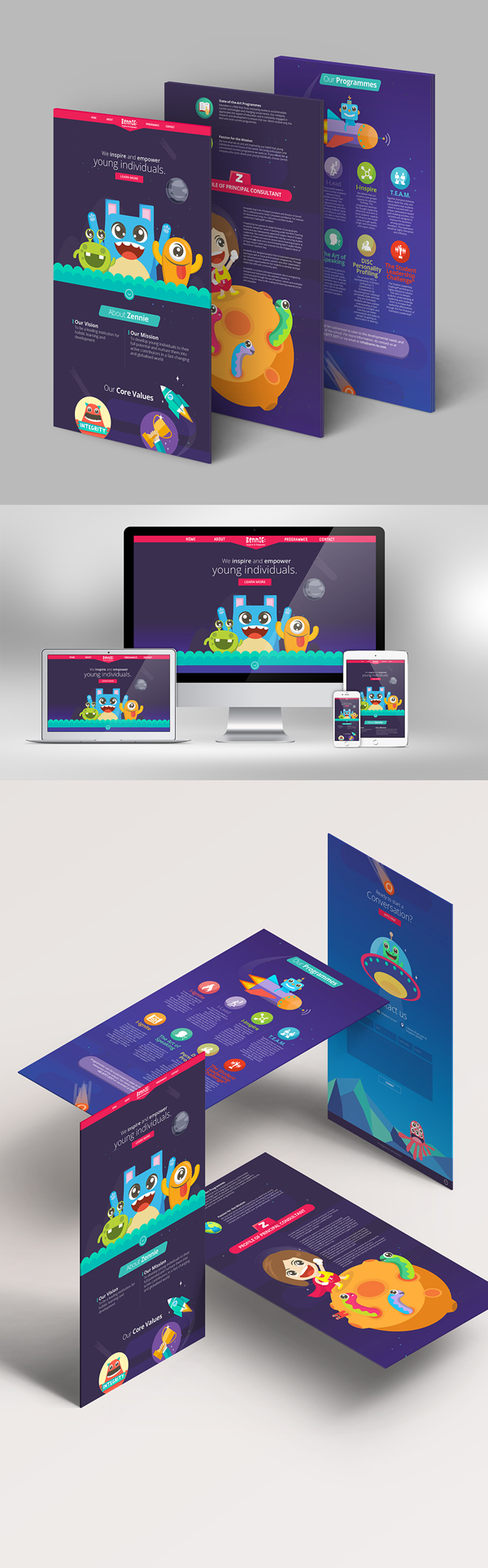 Zenn IE web and brochure design