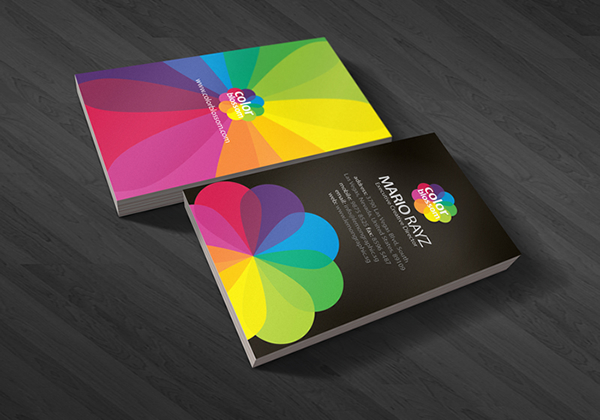 Color Blossom Corporate Business Card
