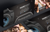 Photographer business name card design
