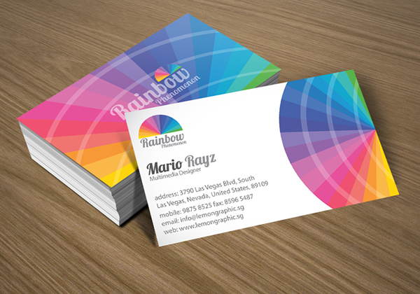 Rainbow phenomenon corporate business card lemon graphic rainbow phenomenon corporate business card reheart Images