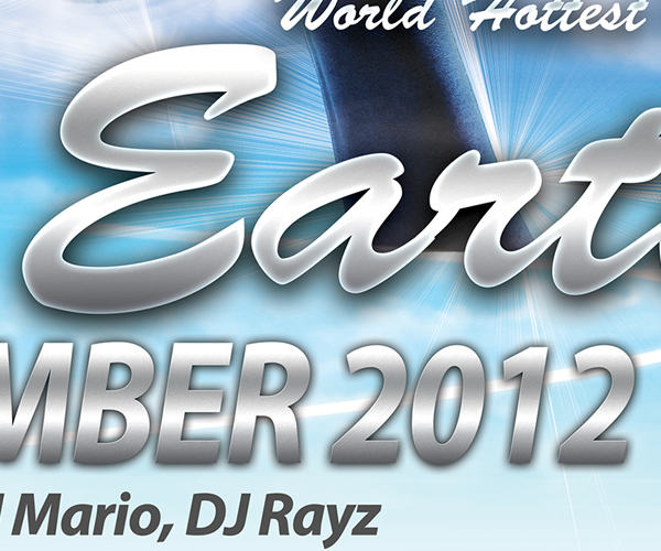 Save the earth party flyer