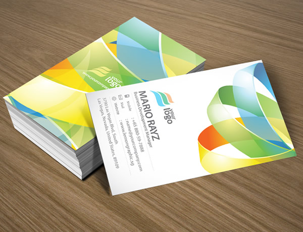 Arena Hoop Corporate Business Card