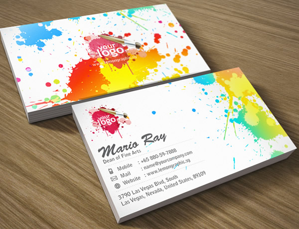 Art Attack Corporate Business Card