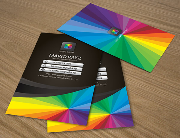 Color Prism Corporate Business Card