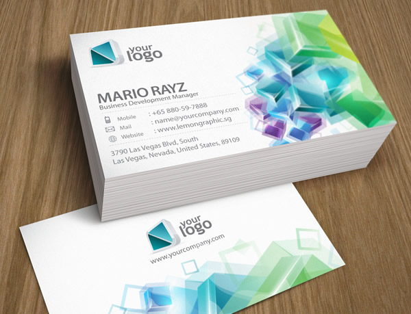 Cubic Crystal Corporate Business Card
