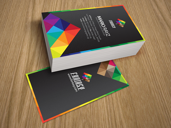 Fantasy Colors Corporate Business Card