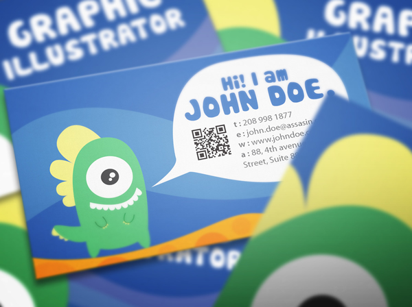 Graphic monster business card design